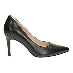 Clarks - Black leather dinah keer court shoes