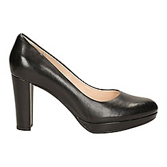 Clarks - Black leather kendra sienna silhouette