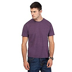 St George by Duffer - Purple embroidered logo t-shirt