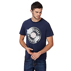 St George by Duffer - Navy vinyl print t-shirt