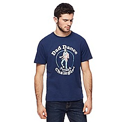 St George by Duffer - Big and tall blue 'dad dance champion' print t-shirt