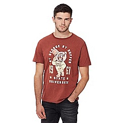 St George by Duffer - Big and tall red 1961 bear print t-shirt