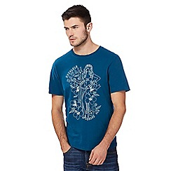 St George by Duffer - Blue Hawaii print t-shirt