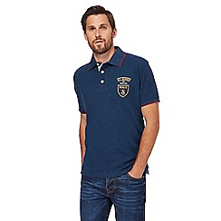 St George by Duffer - Big and tall red logo applique polo shirt