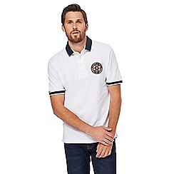 St George by Duffer - White logo embroidered polo shirt