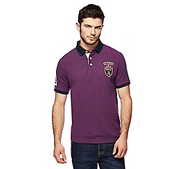 St George by Duffer - Big and tall purple tipped collar polo shirt