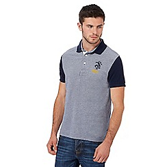 St George by Duffer - Big and tall navy contrasting sleeve polo shirt