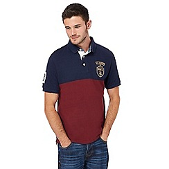 St George by Duffer - Big and tall wine red logo polo shirt