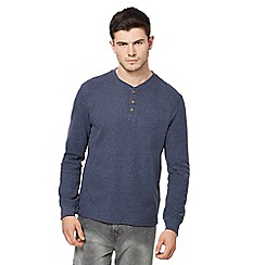 St George by Duffer - Big and tall blue waffle textured top