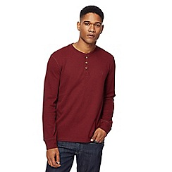 St George by Duffer - Big and tall dark red grandad collar top
