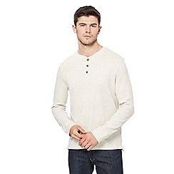 St George by Duffer - Big and tall cream waffle textured top