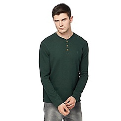 St George by Duffer - Big and tall dark green waffle textured top