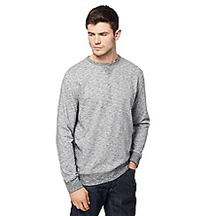 St George by Duffer - Big and tall grey knit look sweater
