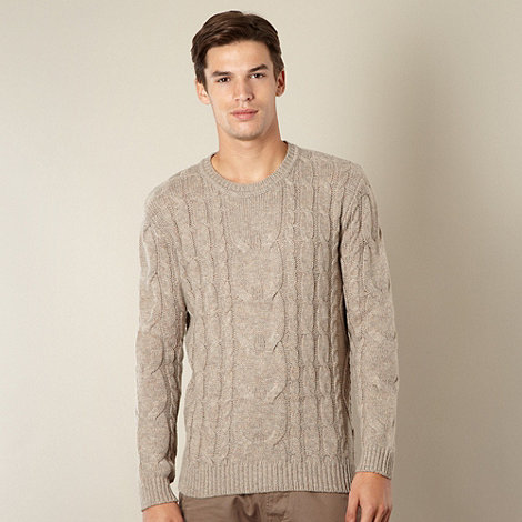 St George by Duffer - Natural cable knit jumper