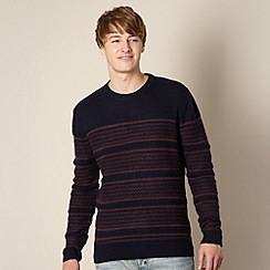 St George by Duffer - Navy multi striped jumper
