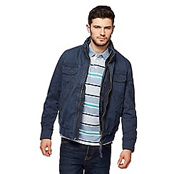 St George by Duffer - Navy double zip jacket