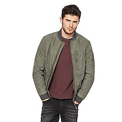 St George by Duffer - Khaki bomber jacket