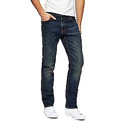 St George by Duffer - Dark blue vintage wash straight leg jeans