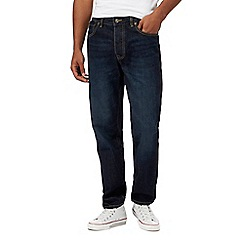 St George by Duffer - Dark blue mid wash straight leg jeans
