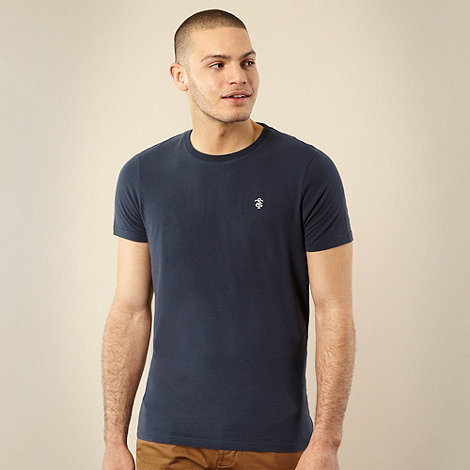 St George by Duffer - Navy embroidered logo t-shirt