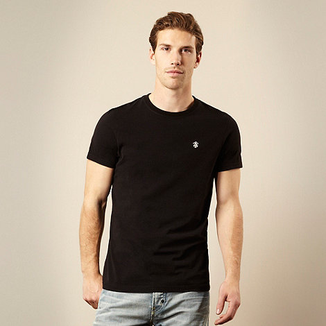 St George by Duffer - Black embroidered logo t-shirt