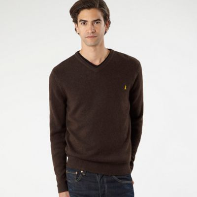Brown Wool Blend Jumper