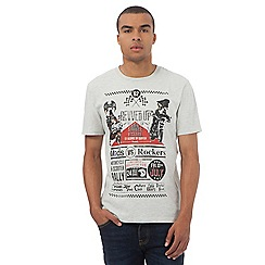 St George by Duffer - Big and tall off white printed t-shirt