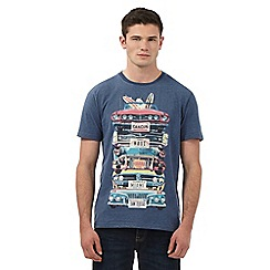 St George by Duffer - Navy stacked cars print t-shirt