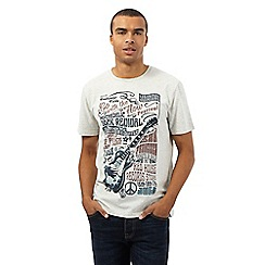 St George by Duffer - Big and tall grey 'Festival Poster' print t-shirt
