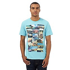 St George by Duffer - Big and tall turquoise printed t-shirt