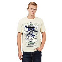 St George by Duffer - Big and tall yellow graphic print t-shirt