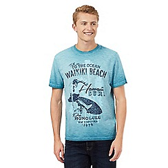 St George by Duffer - Turquoise oil wash 'Waikiki Beach' t-shirt