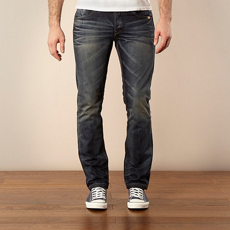 St George by Duffer - Mid blue straight leg jeans