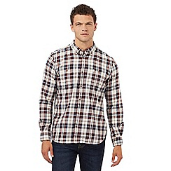 St George by Duffer - Big and tall multi-coloured checked print regular fit shirt