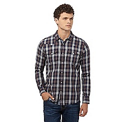 St George by Duffer - Brown checked regular fit shirt