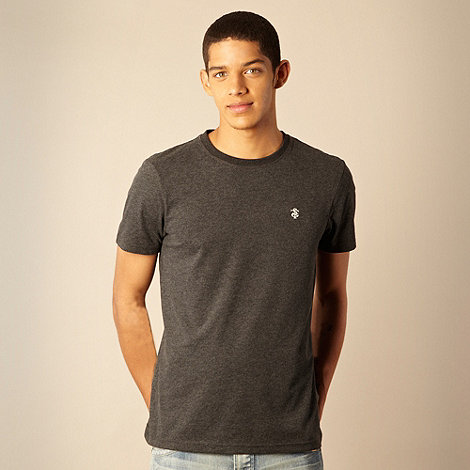 St George by Duffer - Dark grey logo embroidered t-shirt