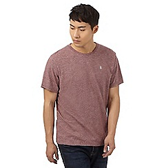 St George by Duffer - Big and tall dark red grindle textured t-shirt