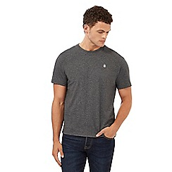 St George by Duffer - Big and tall dark grey logo embroidered t-shirt