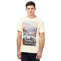 St George by Duffer - Big and tall yellow 'California Surf Club' print t-shirt