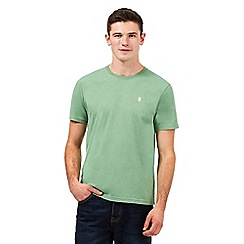St George by Duffer - Green logo embroidered crew neck t-shirt