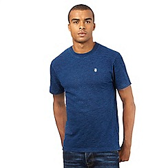 St George by Duffer - Big and Tall blue embroidered logo t-shirt