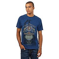 St George by Duffer - Big and Tall blue printed t-shirt