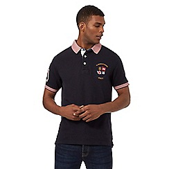 St George by Duffer - Navy short sleeve polo shirt