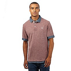 St George by Duffer - Big and Tall dark red mock polo shirt
