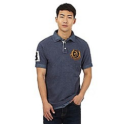 St George by Duffer - Big and tall navy double collar polo shirt