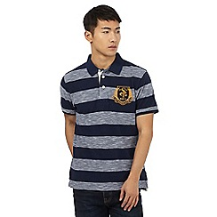 St George by Duffer - Navy stripe polo shirt