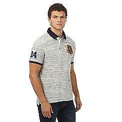 St George by Duffer - Big and tall dark cream space dye polo shirt
