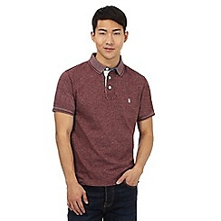St George by Duffer - Big and tall dark red polo shirt