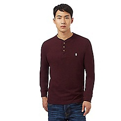 St George by Duffer - Dark red grandad neck top