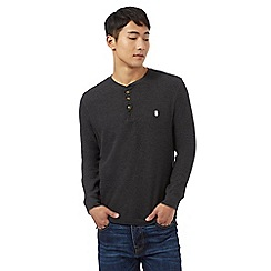St George by Duffer - Big and tall dark grey granddad neck top
